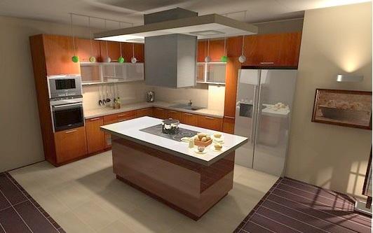 kuchyň s ostrůvkem